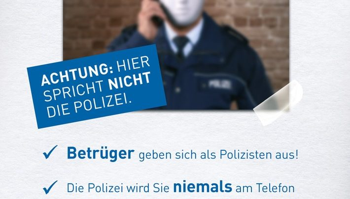 Angebliche Anrufe von der Polizei