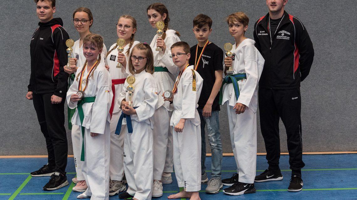 Nur Podiumsplätze für die Kämpfer des VfL Berghausen Abteilung Taekwondo