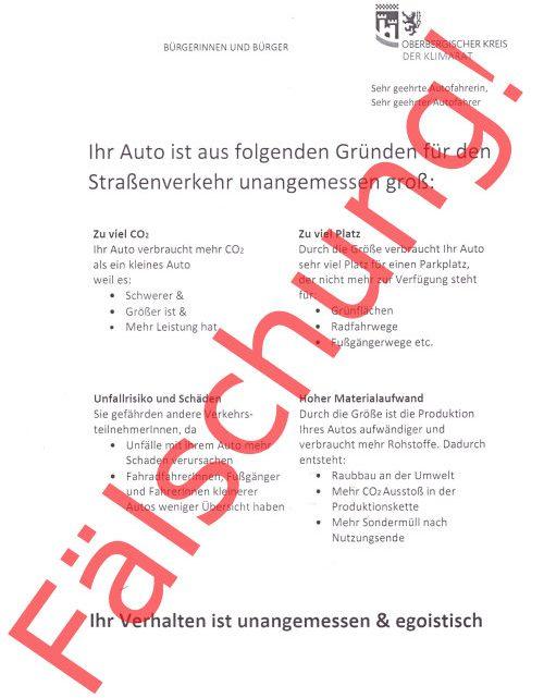 """Der Oberbergische Kreis verteilt keine moralischen """"Knöllchen""""!"""