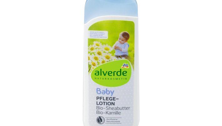 """dm ruft vorsorglich den Artikel """"alverde Baby Pflegelotion Bio-Sheabutter Bio-Kamille"""" zurück"""