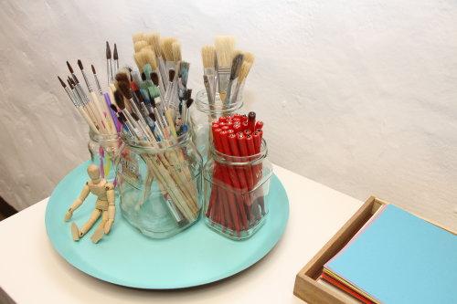 Schönschrift zum Kaffeeklatsch und Collagen als After Work Art
