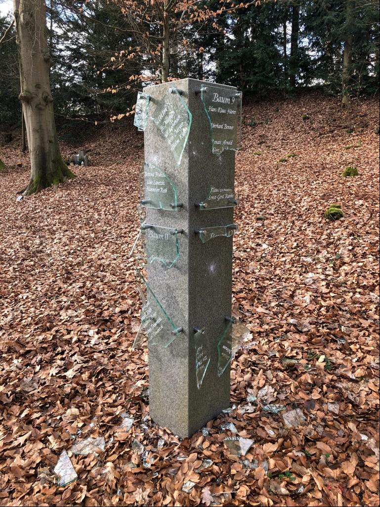 Vandalismus auf dem Westfriedhof