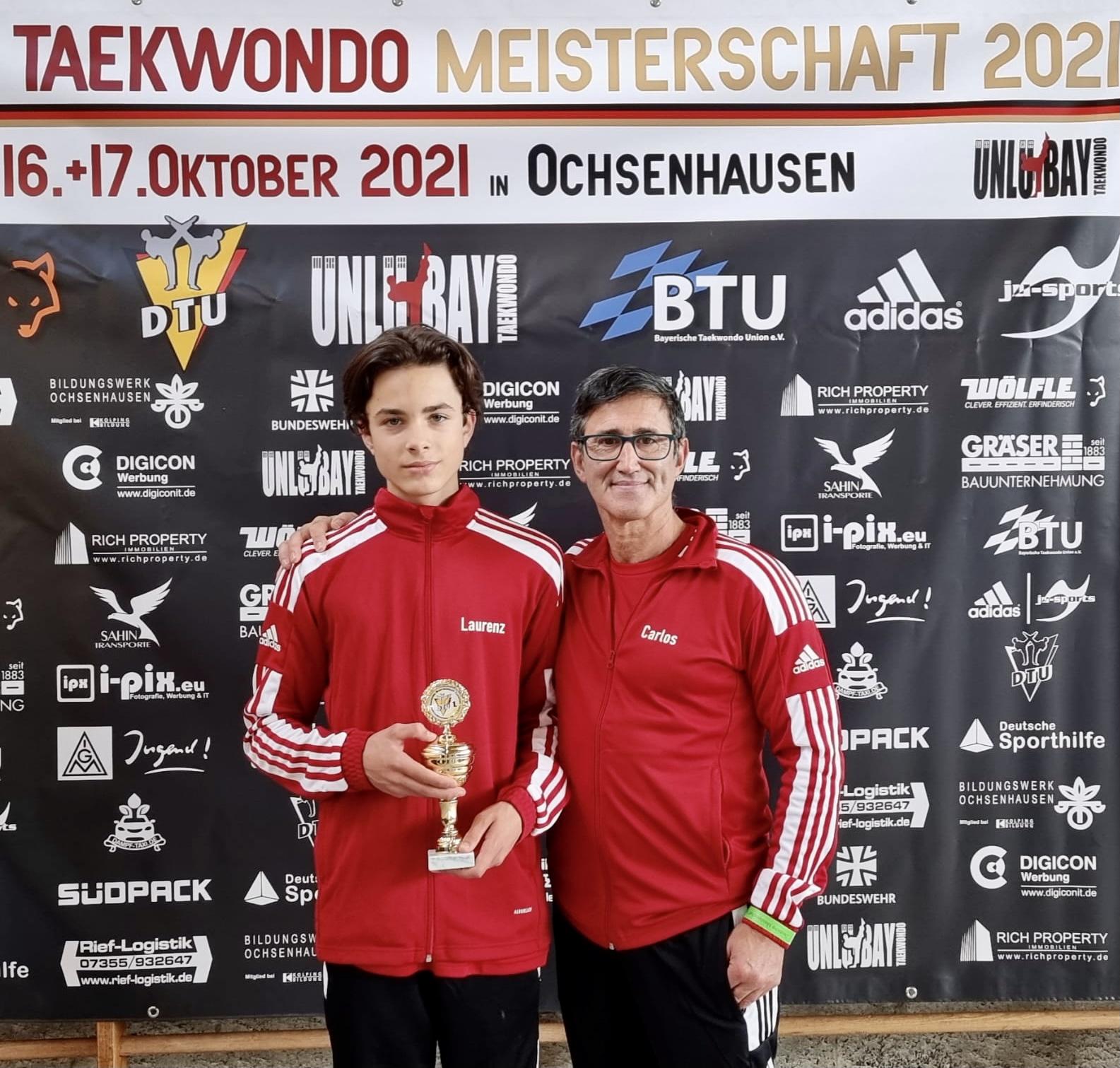 Deutscher Meistertitel im Taekwondo für Laurenz Braun